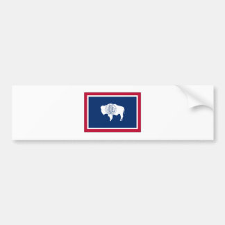 Wyoming State Flag Bumper Sticker