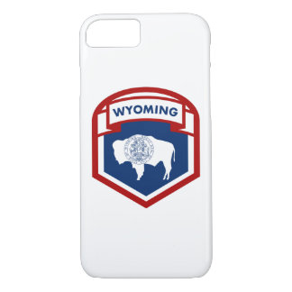 Wyoming State Flag Crest Shield Style iPhone 8/7 Case