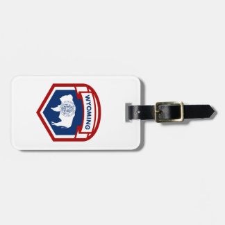 Wyoming State Flag Crest Shield Style Luggage Tag