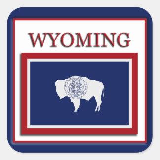 Wyoming State Flag Design Sticker