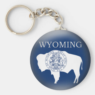 Wyoming State Flag Keychain