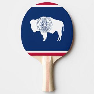 Wyoming State Flag Ping Pong Paddle
