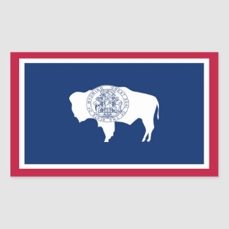 Wyoming State Flag Rectangular Sticker
