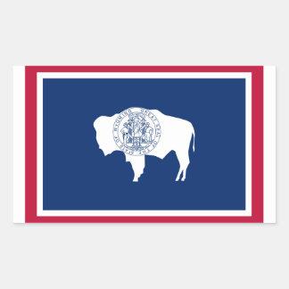 Wyoming State flag Rectangular Sticker