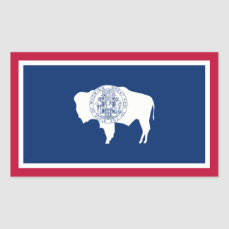 Wyoming State Flag, United States Stickers