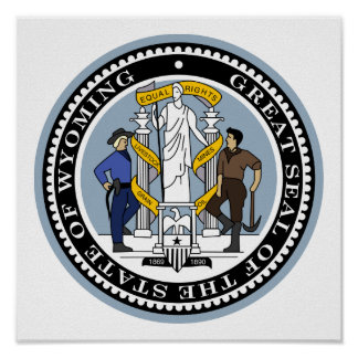 Wyoming State Seal Poster