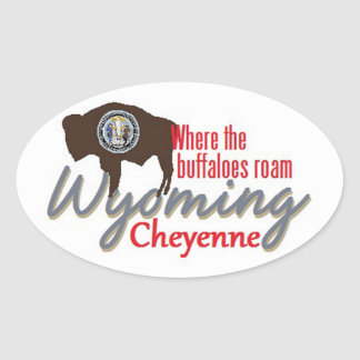 WYOMING OVAL STICKERS