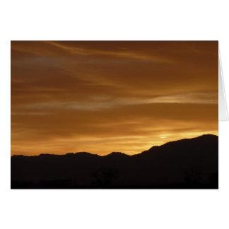Wyoming Sunset Card