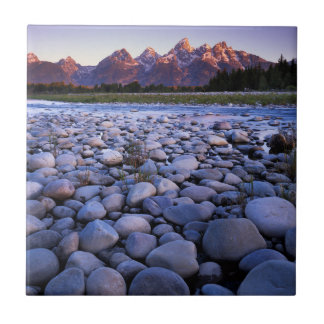Wyoming, Teton National Park, Snake River Ceramic Tile