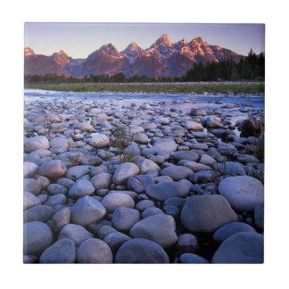 Wyoming, Teton National Park, Snake River Small Square Tile