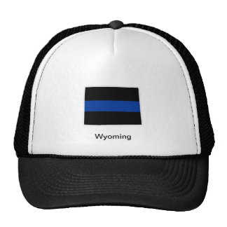 Wyoming Thin Blue Line Trucker Hat