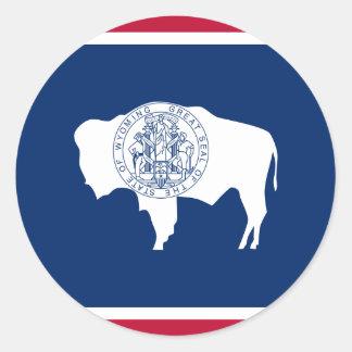 Wyoming, United States flag Sticker