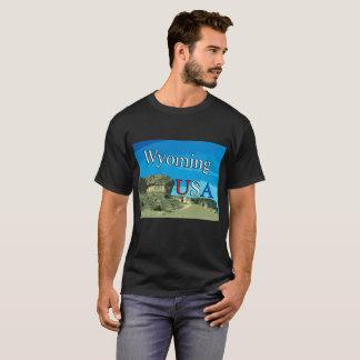 Wyoming USA Men's Dark T-Shirt