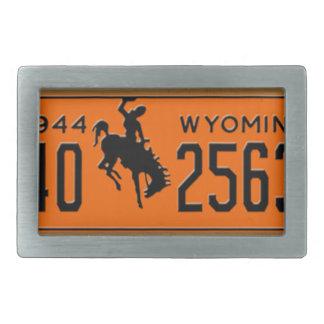 Wyoming Vintage License Plate 1944 Buckle Rectangular Belt Buckles