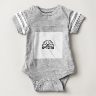 wyoming wheel baby bodysuit