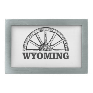 wyoming wheel rectangular belt buckle