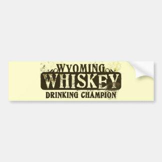 Wyoming Whiskey Drinking Champion Bumper Sticker