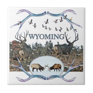 WYOMING wildlife Ceramic Tile