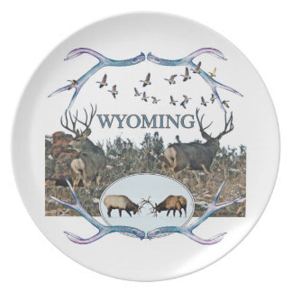 WYOMING wildlife Plate