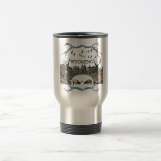 WYOMING wildlife Travel Mug
