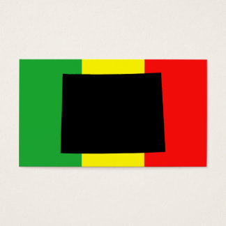 Wyoming with Rasta Colors Business Card