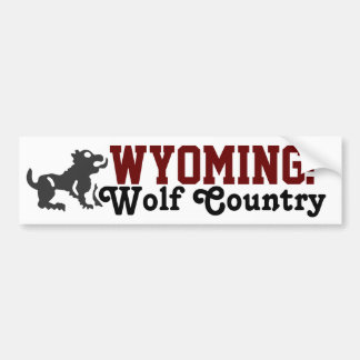 Wyoming: Wolf Country Bumper Sticker