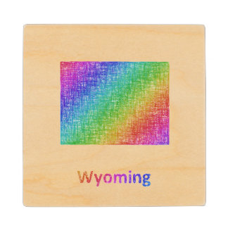 Wyoming Wood Coaster
