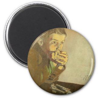 Wyspianski, Boy with Pistols, 1902 6 Cm Round Magnet