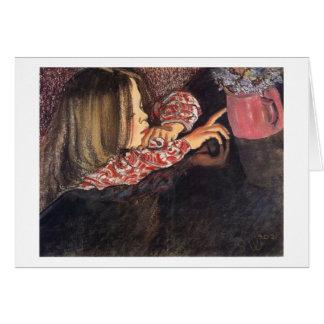 Wyspianski, Helenka with a Vase of Flowers, 1902 Cards