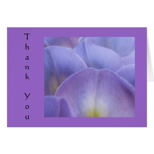 Wysteria3 Thank You Card