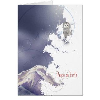 X003 Winter Owl Card