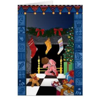 X005 Looking for Santa Greeting Card