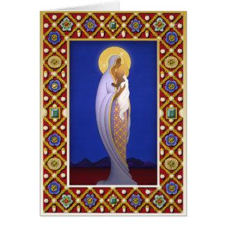 X006 Jeweled Madonna Card