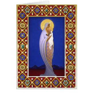 X006 Jewelled Madonna Greeting Card