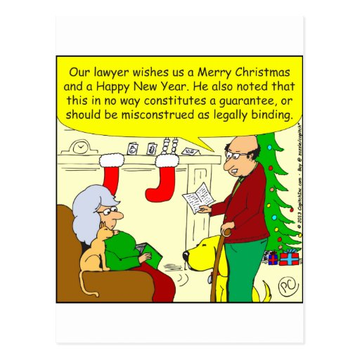 x08 Christmas card from our lawyer - cartoon Postcards