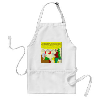 x08 Christmas card from our lawyer - cartoon Standard Apron