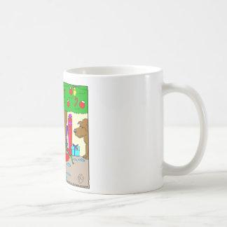 x22 Christmas tree toilet water - Fun for dogs Basic White Mug