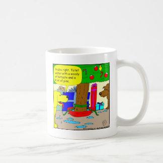 x22 Christmas tree toilet water - Fun for dogs Mug