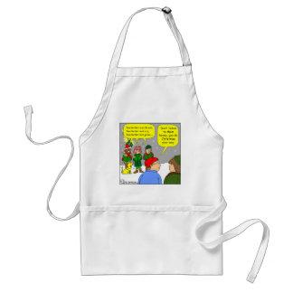 x72 do christmas your way cartoon apron