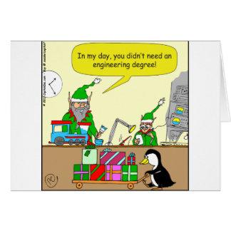 x87 Elf Engineering degree cartoon Card