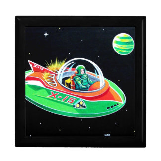 X-15 FLYING SAUCER LARGE SQUARE GIFT BOX