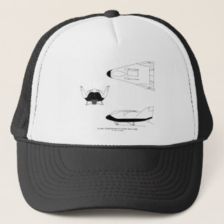 X-38_3-View_line_art_EG-0097-01 Trucker Hat