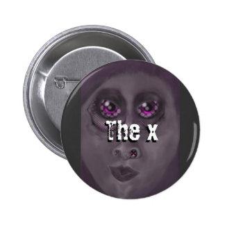 x pinback button