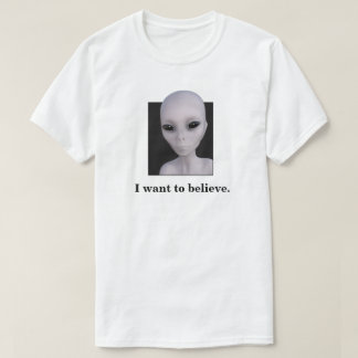 x-files alien I want to believe t-shirt