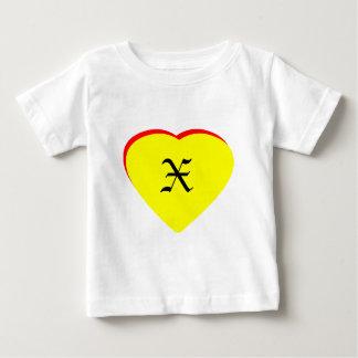 """X"" Heart Yellow Red Wedding Invitation The MUSEUM Tshirts"