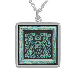 X Initial Monogram Masselle Blue Necklace Necklaces