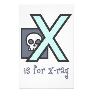 X Is For X-Ray Stationery Paper