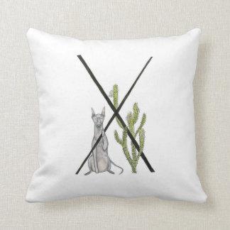 X is for Xoloitzcuintli Pillow! Throw Pillow