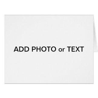 x Jumbo Card Photo or Text - Create Your Own