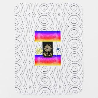 X Marks the Spot Baby Blanket (White Ocean Waves)